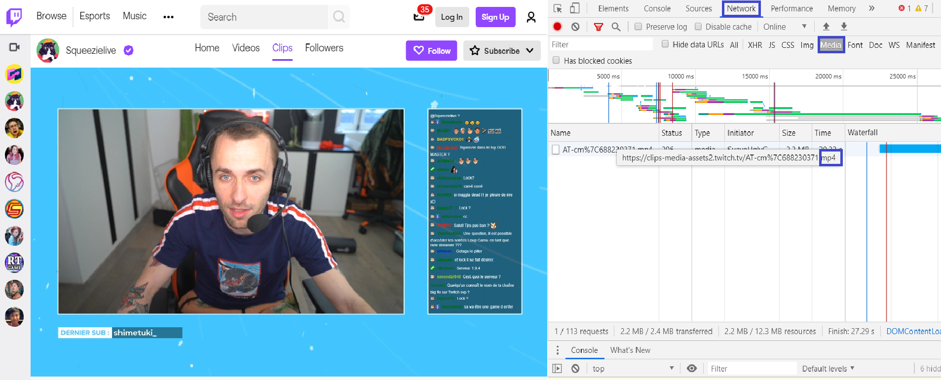 How to download Twitch videos with Developer tools