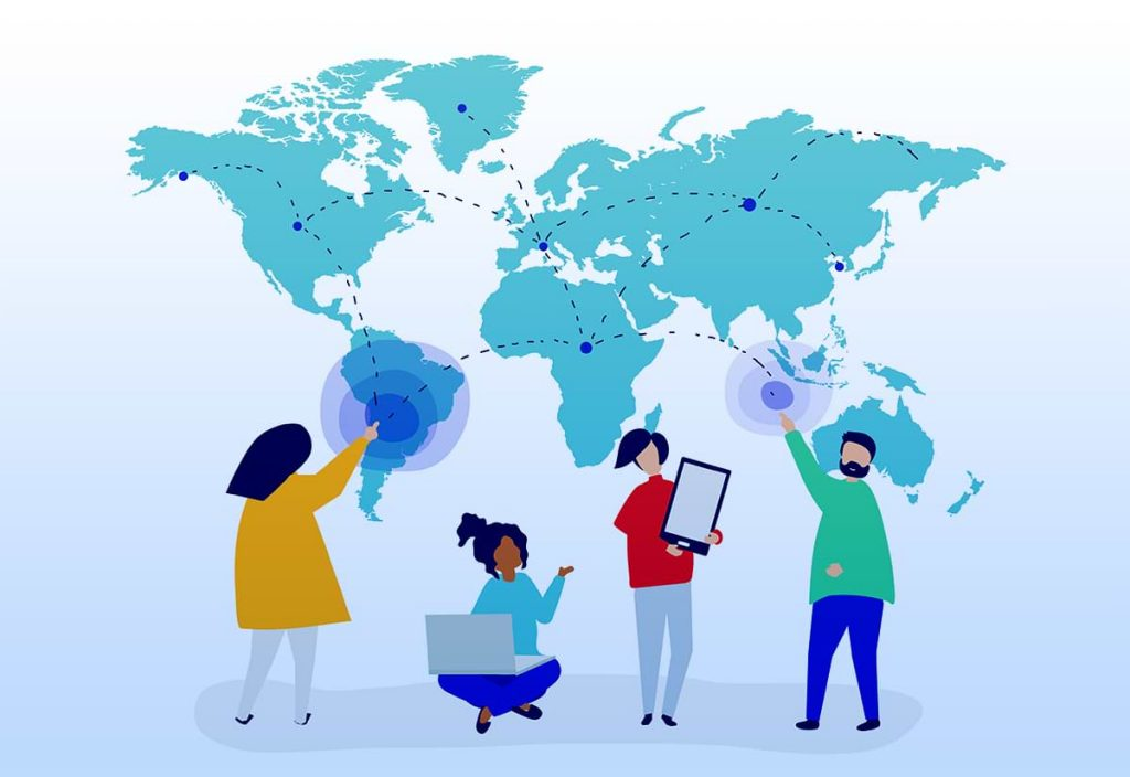 Create the content in multiple languages